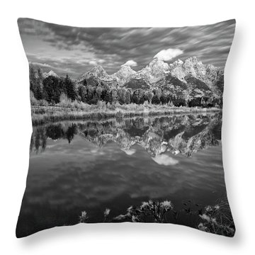 Mountain Monochrome Throw Pillow