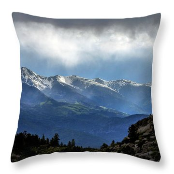 Mountain Moodiness Throw Pillow