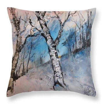 Mountain Morning Throw Pillow