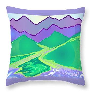 Mountain Murmurs Throw Pillow