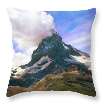 Throw Pillow featuring the photograph Mountain Of Mountains  by Connie Handscomb