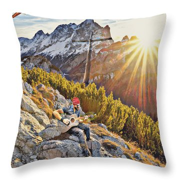 Mountain Of The Lord Throw Pillow