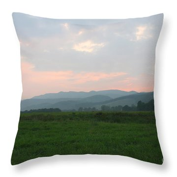 Mountain Pasture Throw Pillow