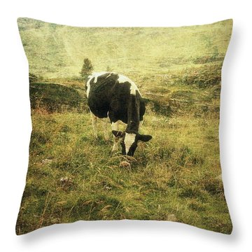 Mountain Pastures  Throw Pillow