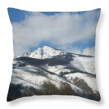 Throw Pillow featuring the photograph Mountain Peak by Jewel Hengen