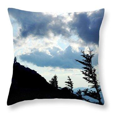 Mountain Peak Silhouette Throw Pillow