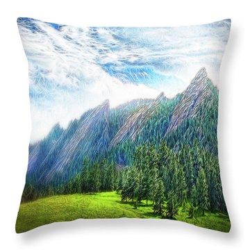 Mountain Pine Meadow Throw Pillow