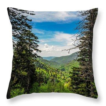 Mountain Pines Throw Pillow