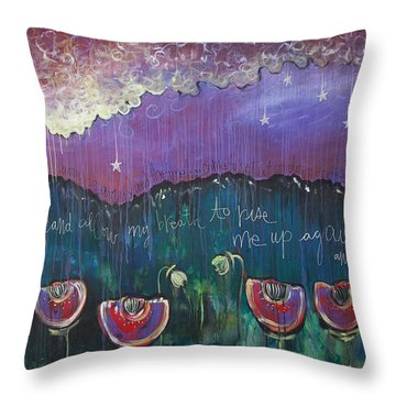 Mountain Poppies Throw Pillow