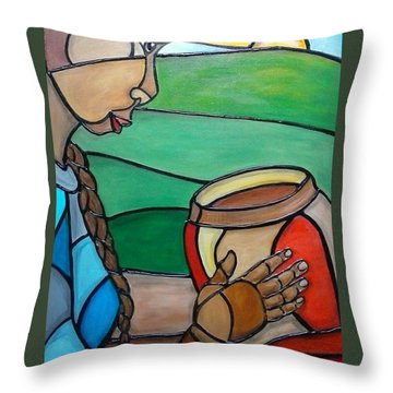 Mountain Potter Throw Pillow by Jenny Pickens