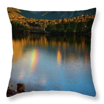 Mountain Rainbows Throw Pillow