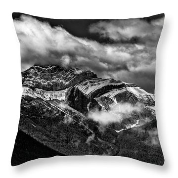 Mountain Range Canada Throw Pillow