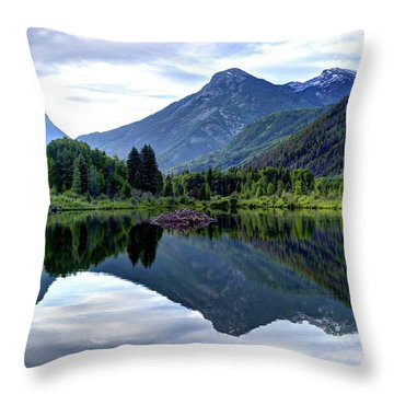 Elk Mountain Reflections Throw Pillow by Jean Hutchison