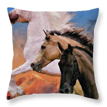 Mountain Ridge Royalty Throw Pillow