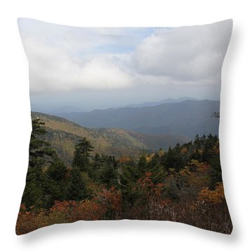 Mountain Ridge View Throw Pillow