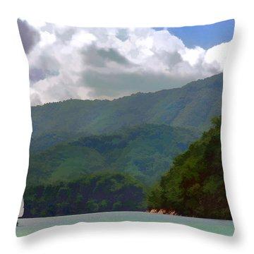 Mountain Sail Throw Pillow