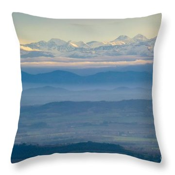 Mountain Scenery 11 Throw Pillow