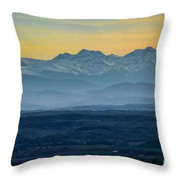 Mountain Scenery 12 Throw Pillow by Jean Bernard Roussilhe