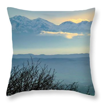 Mountain Scenery 14 Throw Pillow by Jean Bernard Roussilhe