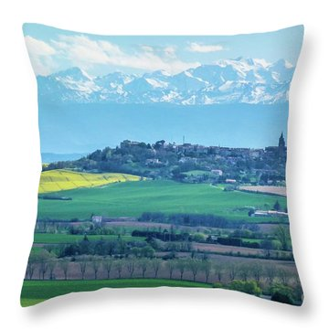 Mountain Scenery 17 Throw Pillow by Jean Bernard Roussilhe