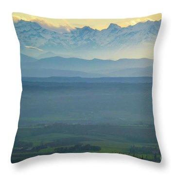 Mountain Scenery 18 Throw Pillow by Jean Bernard Roussilhe