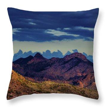 Mountain Shadow Throw Pillow