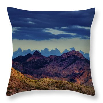 Mountain Shadow Throw Pillow