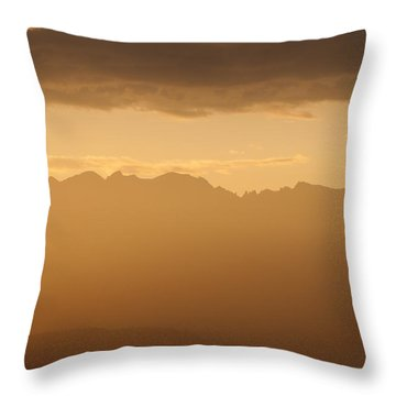 Throw Pillow featuring the photograph Mountain Shadows by Colleen Coccia