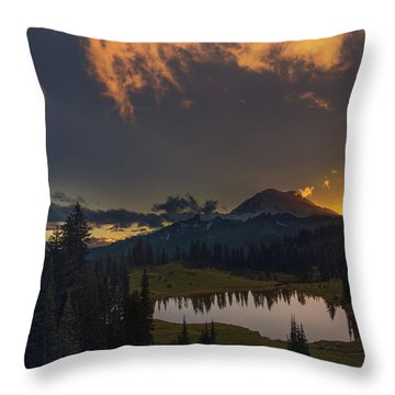 Mountain Show Throw Pillow
