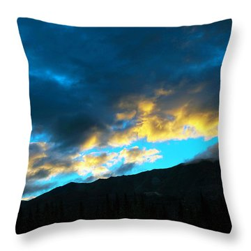 Throw Pillow featuring the photograph Mountain Silhouette by Madeline Ellis