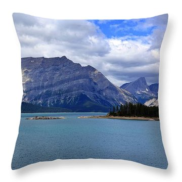 Upper Kananaskis Lake Throw Pillow