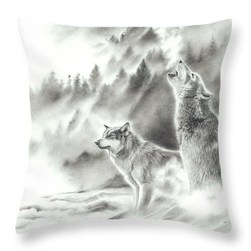 Mountain Spirits Throw Pillow