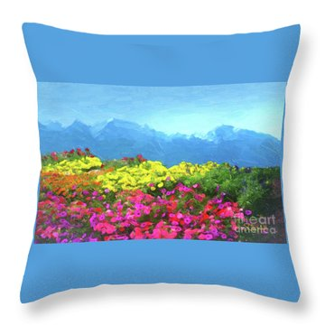 Mountain Spring Throw Pillow
