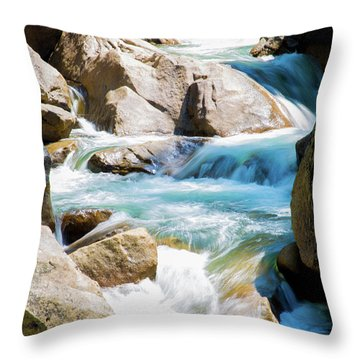 Mountain Spring Water Throw Pillow