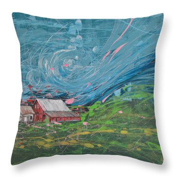 Strong Storm Throw Pillow