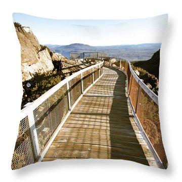 Mountain Summit Lookout Throw Pillow