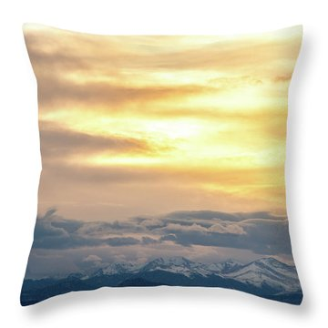 Throw Pillow featuring the photograph Mountain Sun by Tyson Kinnison