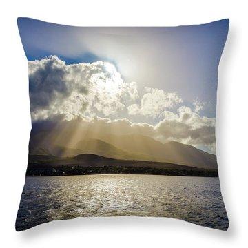 Mountain Sunbeams Throw Pillow