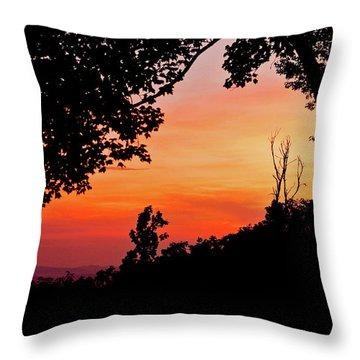 Throw Pillow featuring the photograph Mountain Sunrise by Meta Gatschenberger