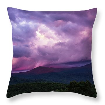 Mountain Sunset In The East Throw Pillow