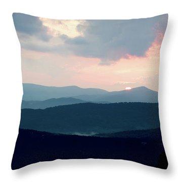 Throw Pillow featuring the photograph Blue Ridge Mountain Sunset by Meta Gatschenberger