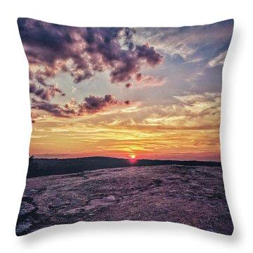 Mountain Sunset Throw Pillow