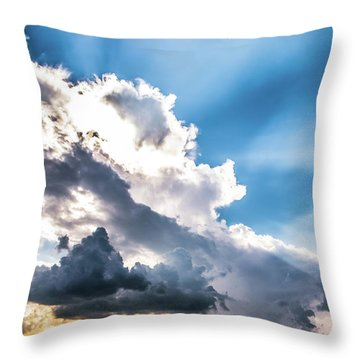 Throw Pillow featuring the photograph Mountain Sunset Sightings by Shelby Young