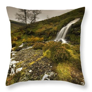 Throw Pillow featuring the photograph Mountain Tears by John Chivers