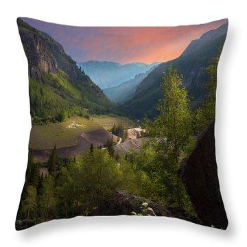 Mountain Time Throw Pillow