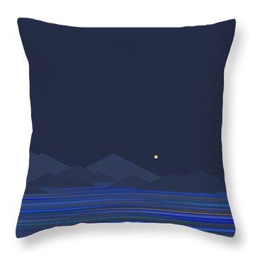 Mountain Tops II Throw Pillow