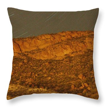 Mountain Trails Throw Pillow by David S Reynolds