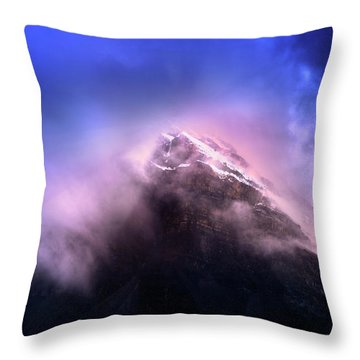 Throw Pillow featuring the photograph Mountain Twilight by John Poon