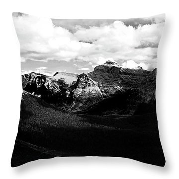 Mountain Valley Landscape Throw Pillow