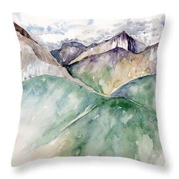 Mountain View Colorado Throw Pillow by Catherine Twomey
